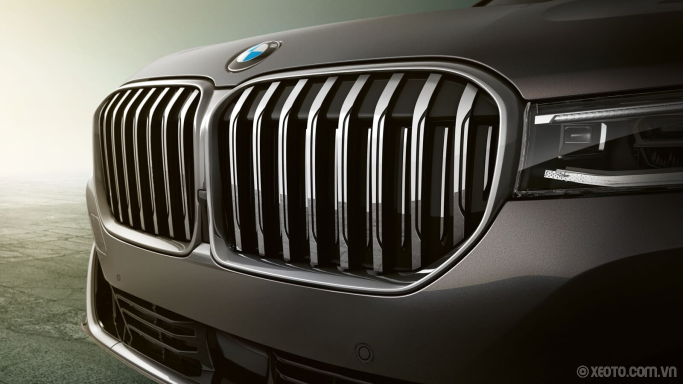 BMW 740Li 2020 hình ảnh ngoại thất The Active Kidney Grille on The 7 exudes a powerful presence, fitting for this legendary sedan.