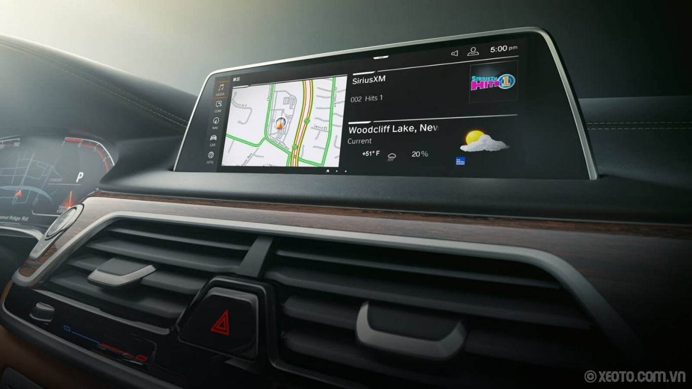 BMW 750Li 2020 hình ảnh nội thất Interact with the iDrive 7.0 Operating System in The 7 using the touchscreen, intelligent voice commands, or Gesture Control.