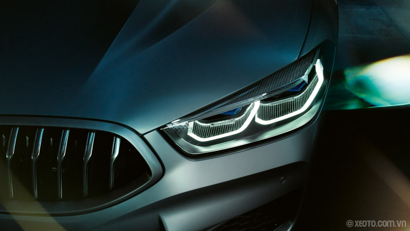 BMW 840i 2021 hình ảnh ngoại thất It's impossible not to take in the exceptional design of the BMW 8 Series Gran Coupe's slim, sleek headlights.