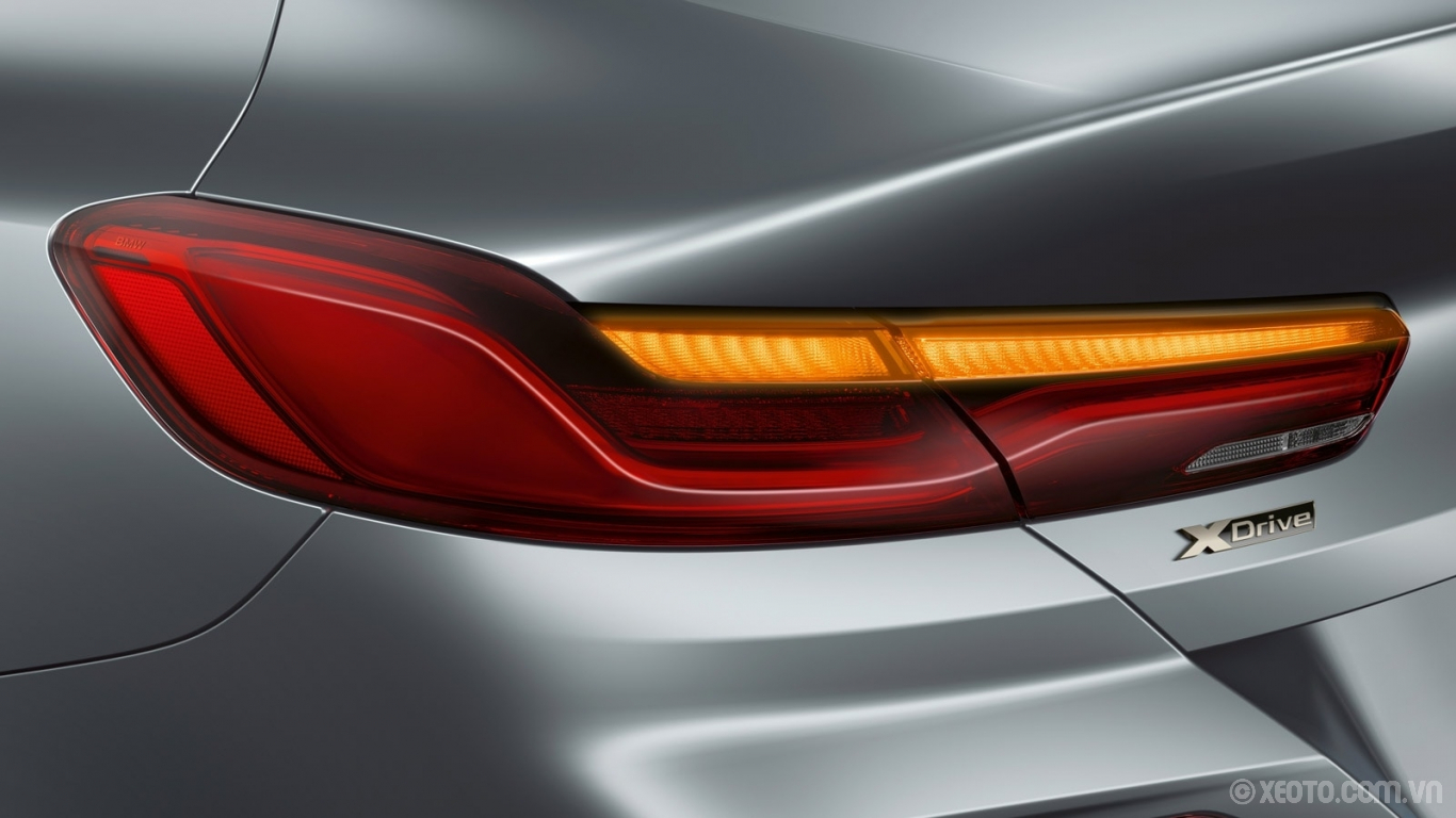 BMW 840i 2021 hình ảnh ngoại thất The LED taillights of the BMW M850i xDrive Gran Coupe create an elegant appearance.