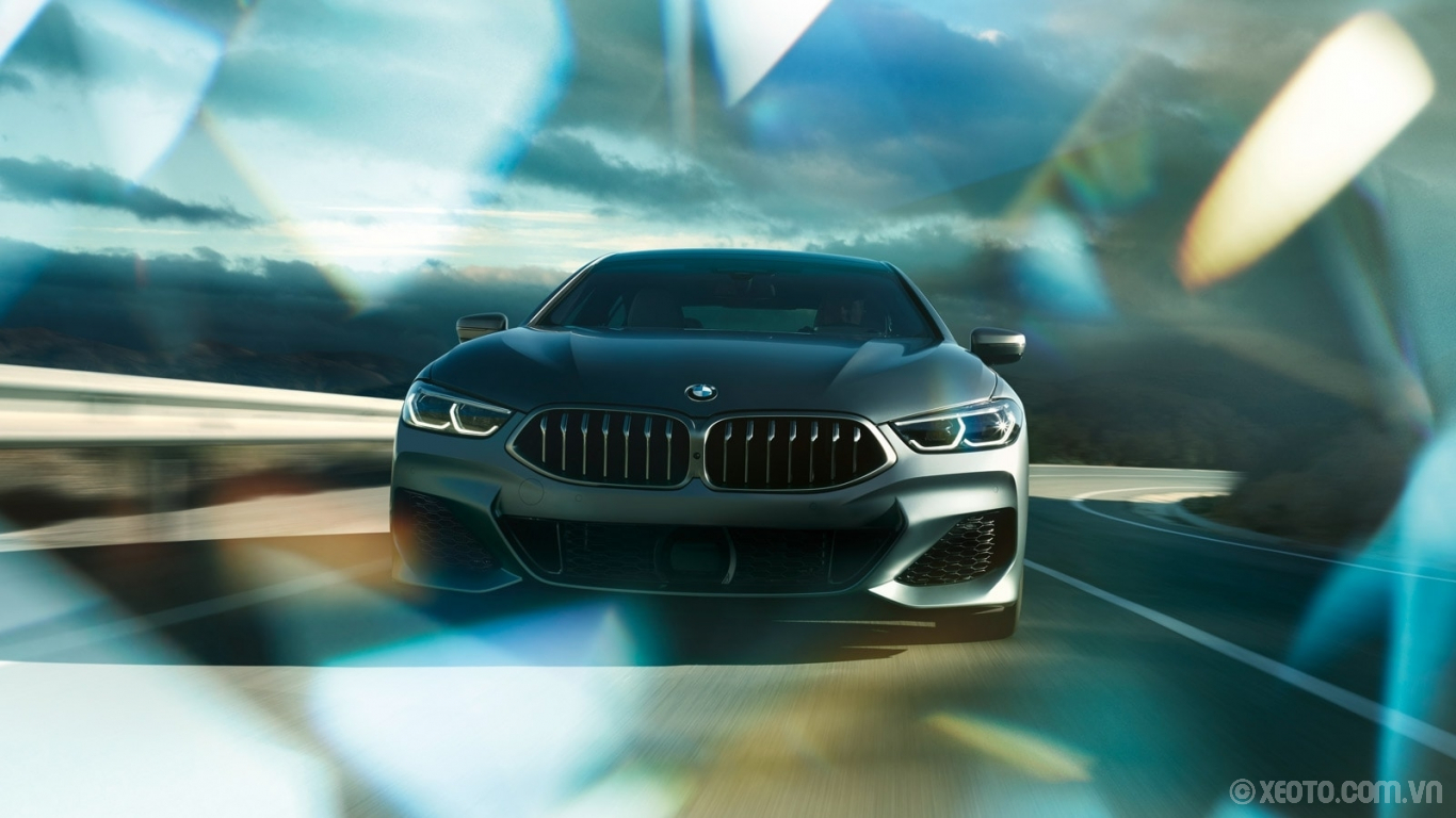 BMW 840i 2021 hình ảnh ngoại thất The wide stance and impressive grille of the BMW 8 Series Gran Coupe are a sight to behold.