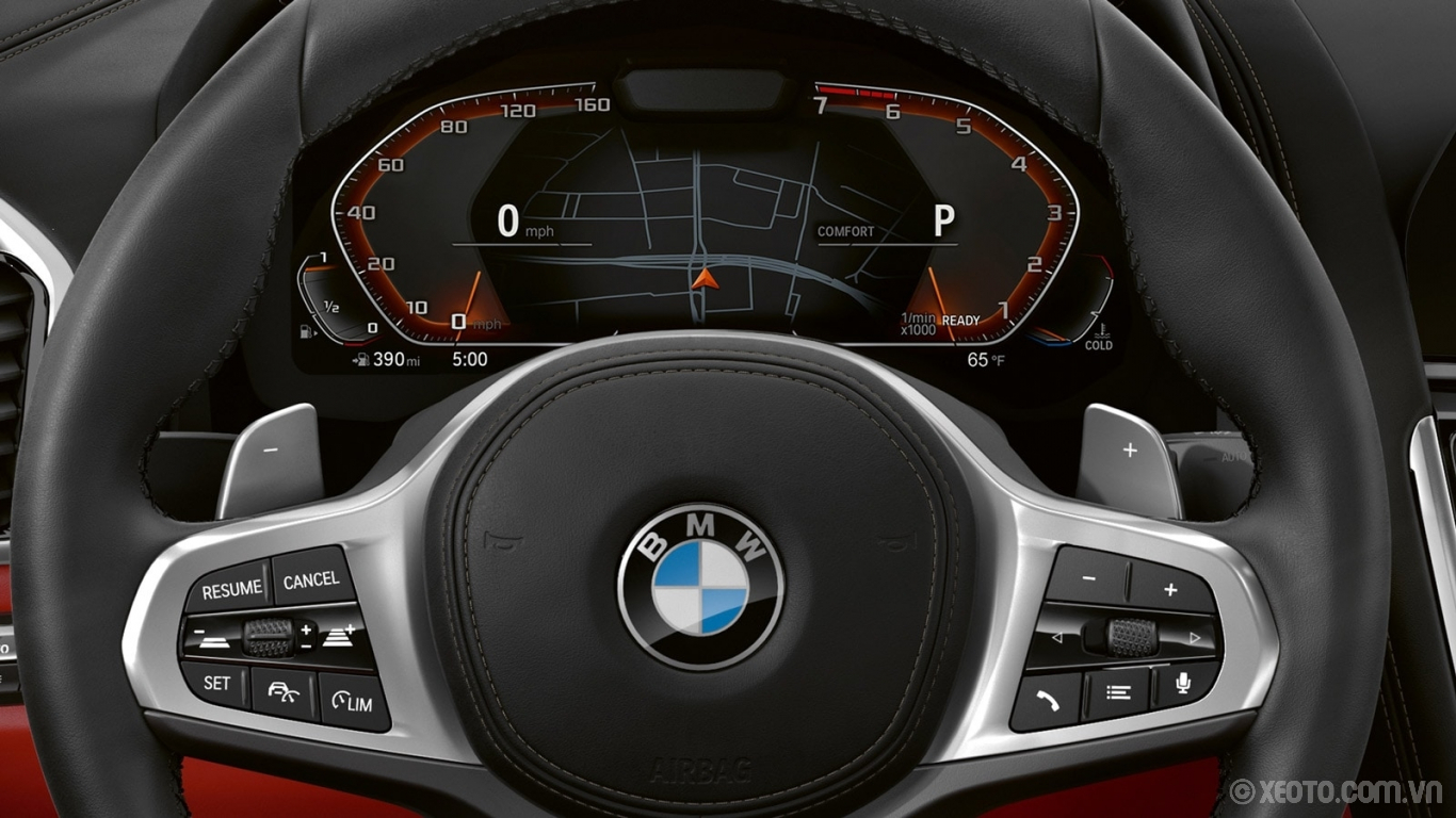 BMW 840i 2021 hình ảnh nội thất Standard Live Cockpit Professional includes BMW Navigation and the latest instrument display, setting a new standard for personalized, intuitive control.