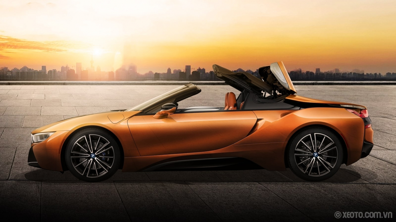 BMW i8 2020 hình ảnh ngoại thất The i8 Roadster's soft top retracts in under 16 seconds, at speeds up to 31 miles per hour.
