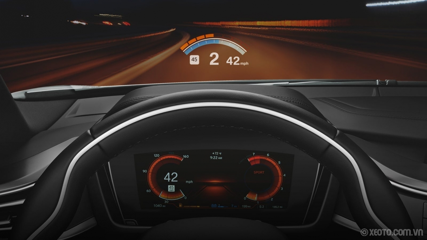 BMW i8 2020 hình ảnh nội thất Your Head-Up Display gets a special update in SPORT mode with an rpm readout, gear indicator, and shift indicator.