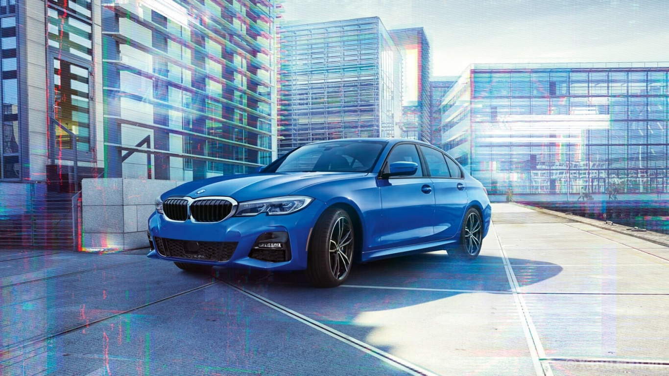 BMW M3 2020 hình ảnh ngoại thất The BMW 330i in Portimao Blue Metallic enhances its athletic aesthetic with the available M Sport package.