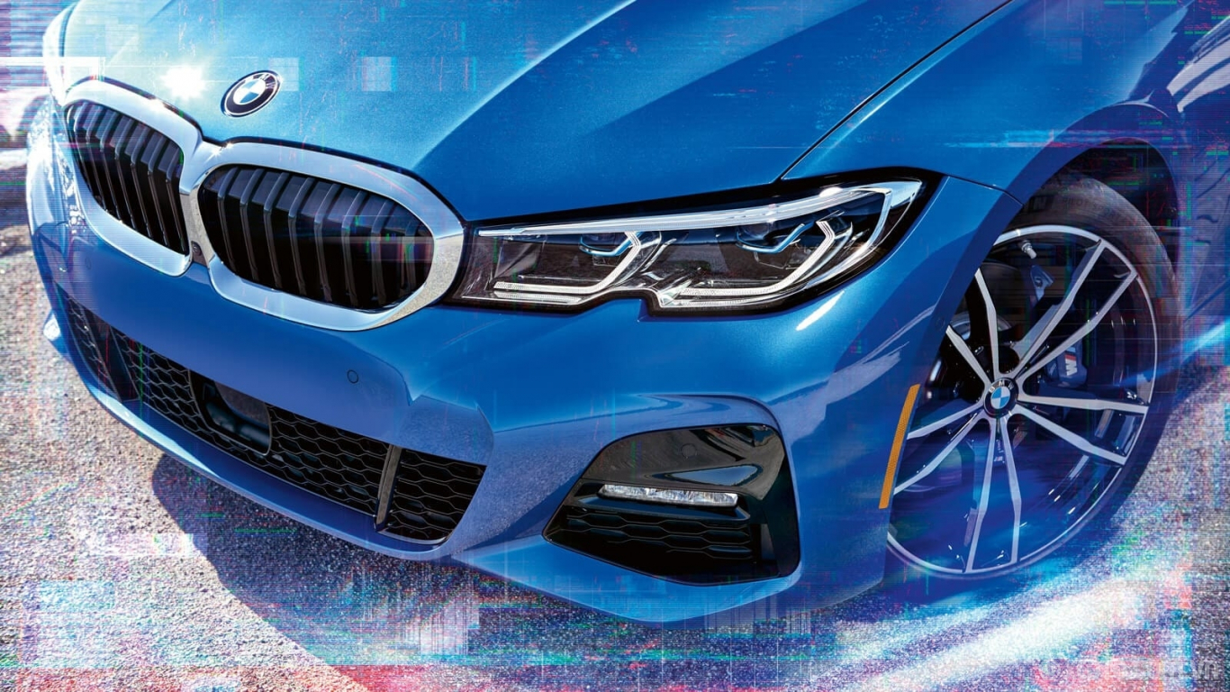 BMW M3 2020 hình ảnh ngoại thất The future is bright with the BMW 3 Series Sedan's Adaptive LED Headlights with Laserlight technology.