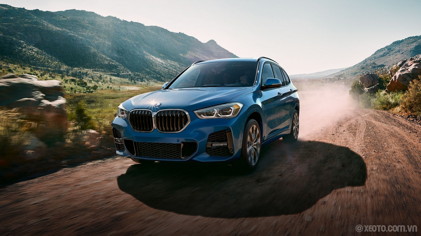 BMW X1 2020 hình ảnh ngoại thất The available M Sport design makes performance come alive through exclusive wheel designs, sporty styling, and optional Misano Blue paint.
