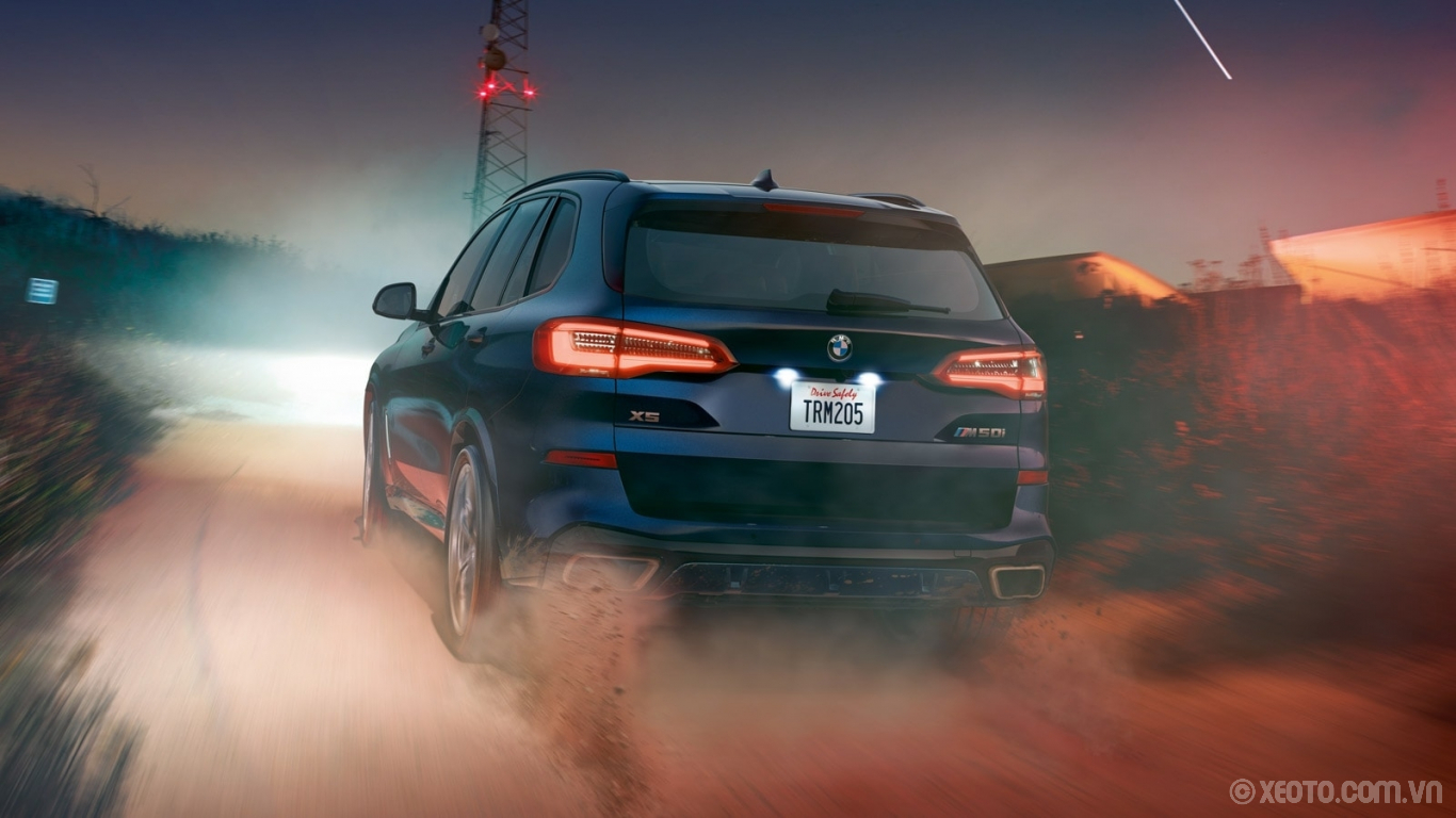 BMW X5 2020 hình ảnh ngoại thất LED taillights provide a slimmer, cleaner rear appearance – and leave onlookers wanting more.