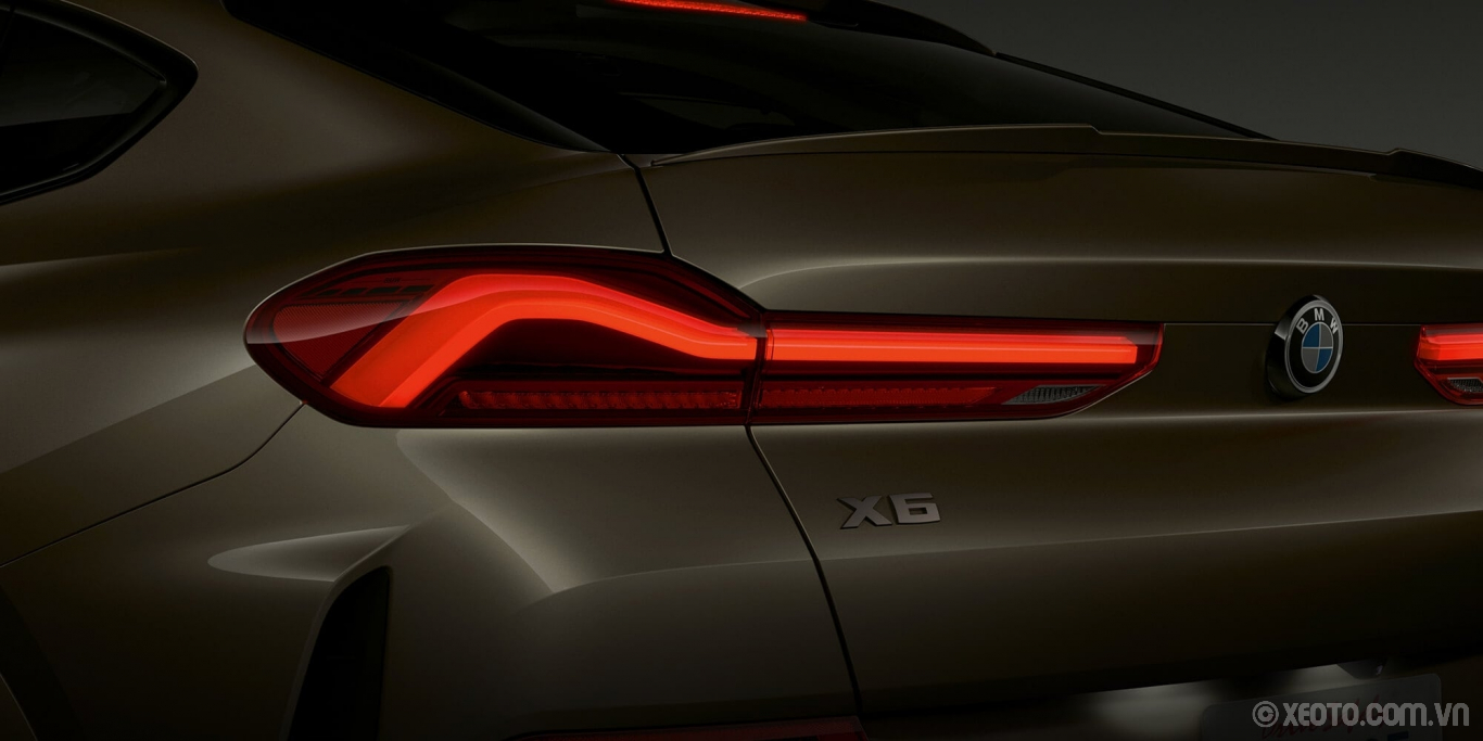BMW X6 2020 hình ảnh ngoại thất LED taillights give your BMW X6 a slim, tailored appearance.
