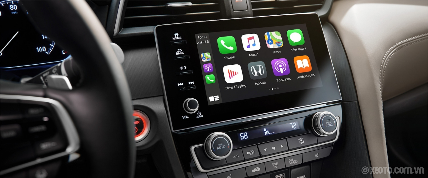Honda Insight 2020 hình ảnh nội thất Apple CarPlay® home screen detail on Display Audio touch-screen in 2021 Honda Insight. - Opens a dialog