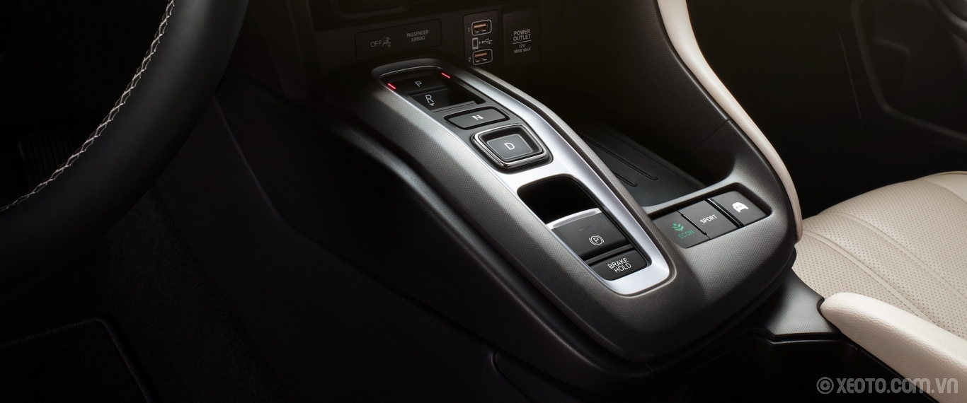 Honda Insight 2020 hình ảnh nội thất Gear shift detail on the 2021 Honda Insight Touring with Ivory Leather. - Opens a dialog