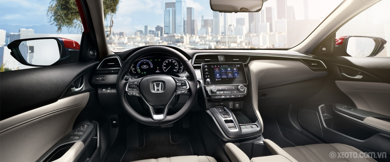 Honda Insight 2020 hình ảnh nội thất Interior view of steering wheel and dash on 2021 Honda Insight Touring with Ivory Leather. - Opens a dialog