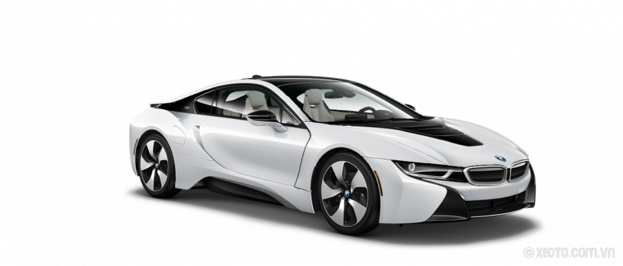BMW i8 2020 Màu Crystal White Pearl Metallic with Frozen Grey accent