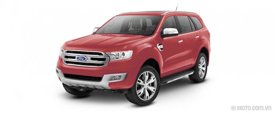 Ford Everest 2021 Màu Sunset-red