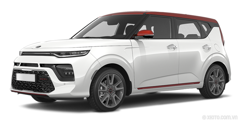 Kia Soul 2021 Màu Clear White + Inferno Red