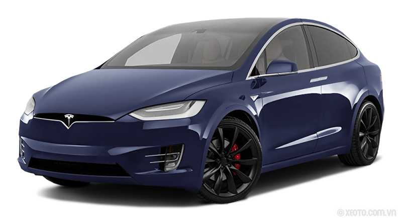 Tesla Model X 2020 Màu Blue metallic
